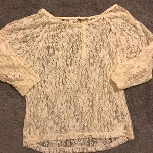 F21 Women's lace top! Like new!